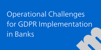 2nd Edition Operational Challenges for GDPR Implementation in Banks, November 20-22